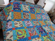 Kristin's Quilt  Laurel Burch  butterfly fabrics