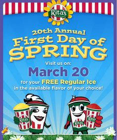 Ritas First Day of Spring FREE Italian Ice Giveaway 2013