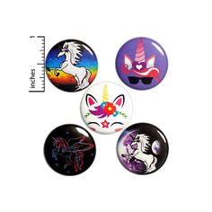 Unicorn Button 5 Pack of Backpack Pins Cute Buttons Badges Lapel Pins Brooches Bag Pins Unicorns Gift Set 1 Funny Buttons, Cool Buttons, Weird Gifts, Funny Gifts, Unicorn Birthday Parties, Birthday Gifts, Unicorn Party, Happy Birthday, Work Jokes
