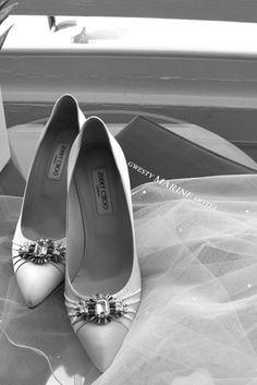 Shoes & veil