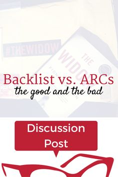 Backlist vs. ARCs: The Good and the bad | Lunch-Time Librarian. There's a constant flurry of interest in ARCs, but also a good amount of drama that surrounds them. And while backlist books don't get as much hype once their release period is long gone, they have their own benefits over ARCs.