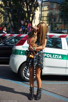 pooch smooch. AdR in Milan. #AnnaDelloRusso