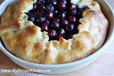 Cherry Galette (from My Persian Kitchen)