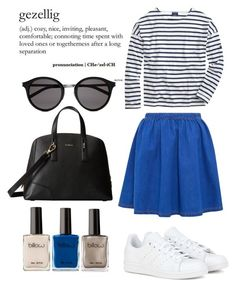"""""""Untitled #1"""" by forelskeet ❤ liked on Polyvore featuring adidas, Saint James, Furla, Yves Saint Laurent, women's clothing, women, female, woman, misses and juniors"""