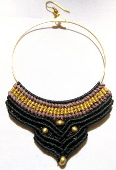 Stunning and eye catching macrame hoop earrings designed with beautiful macrame pattern. This is definitely a statement piece jewelry and is created