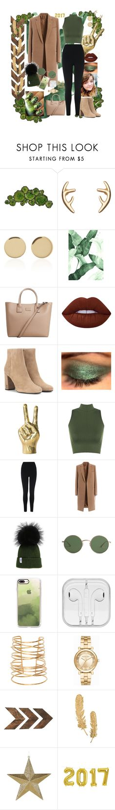 """""""Green with Envy"""" by lrochelle4life ❤ liked on Polyvore featuring Moe's Home Collection, Magdalena Frackowiak, MANGO, Lime Crime, Yves Saint Laurent, WearAll, L.K.Bennett, The Row, Casetify and RGB Cosmetics"""