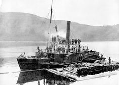 S.S. Beaver, Stanley Park, 1888. First Steamship To Operate In Pacific Northwest And In Eastern Pacific.
