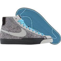 Nike Womens Blazer High (cl grey / mtlc smmt white / tr / powder blue) 317808-011 - $79.99