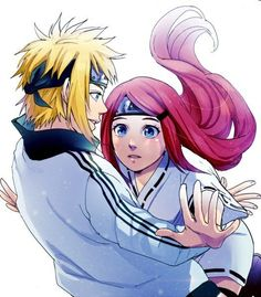 Naruto - Minato Namikaze x Kushina Uzumaki - MinaKushi Naruto Minato, Sasuke, Naruto Family, Naruto Couples, Cute Anime Couples, Uzumaki Family, Naruto Images, Naruto Pictures, Fotos Do Anime Naruto