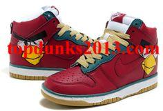 Charming Angry Birds Nike Dunk SB Men Women Red High Top