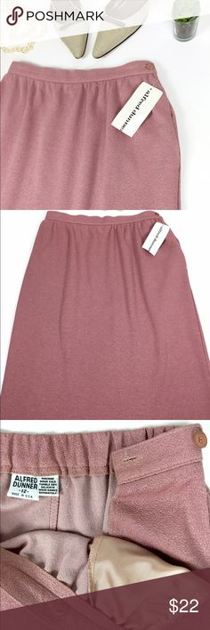 """Alfred Dunner High Tea Women Skirt • New • Details:• Polyester• Elastic closure • Flat front with an elastic back design • Side zipper closure• 100% polyester •Measurement waistline28""""x 27"""" total length. • Brand new with tag. Alfred Dunner Skirts Midi"""