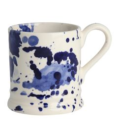 emma bridgewater - navy splatter mug by Bridgewater for Liberty. I love how every one of these is so different.