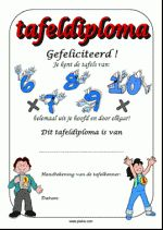 Tafeldiploma 6 t/m 10 - kleur School, Home Decor, Decoration Home, Room Decor, Schools, Interior Decorating