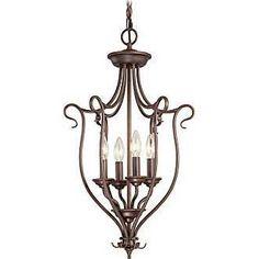 Livex Lighting 6137-58 Coronado Bronze Four-Light Lantern Pendant