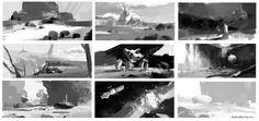 ArtStation - Value and composition study, Bohao Wang
