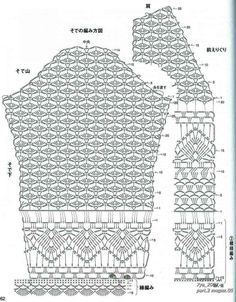 Crochetpedia: Crochet Tops - Full Symbol Patterns for entire tops. I found these full symbol pattern tops posted here and I thought i& post them because there aren& a lot of fully shown patterns. Cardigan em Crochê Feito com Fra-pons! Crochet Baby y This Gilet Crochet, Crochet Jacket, Crochet Cardigan, Knit Crochet, Crochet Tops, Crochet Baby, Crochet Bikini, Crochet Diagram, Crochet Chart