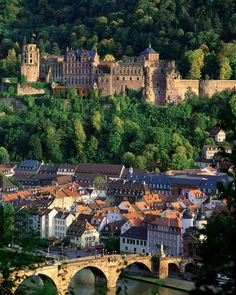 Heidelberg, Altstadt, Neckarbrücke und Schloss