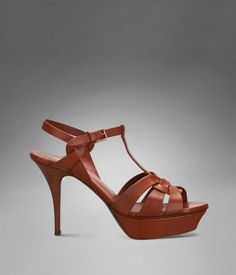 Check out YSL Tribute Low Heel Sandal in Tan Leather at http://www.ysl.com/en_US/product/804741381