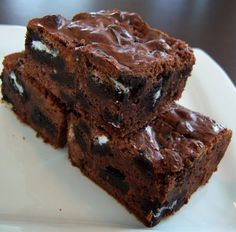 Oreo brownies! No way! I have to try this one day. :]