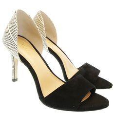 Sandália Preta/Branca Chiva Valentina   Moselle sapatos finos femininos! Moselle sua boutique online.