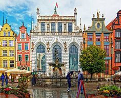 Gdansk, Poland.  Love this beautiful place.  Stood right at the fountain this summer taking tons of photos.