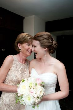 Mother daughter love. wedding Photo by Cathy Lyons