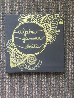 Alpha Gamma Delta Boho Canvas by CarasCanvasCo on Etsy