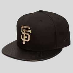 518463c9a56 SF Giants New Era Snapback in Black   Gold Metal