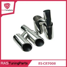 Original Stainless Steel Exhaust Pipe Mufflers For Porsche Panamera S4 RS-CR7008