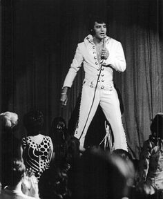 "Elvis in Las Vegas, filming the documentary ""That's The Way It Is"" 1970."