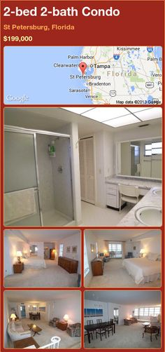 2-bed 2-bath Condo in St Petersburg, Florida ►$199,000 #PropertyForSale #RealEstate #Florida http://florida-magic.com/properties/83814-condo-for-sale-in-st-petersburg-florida-with-2-bedroom-2-bathroom