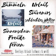 Im Set sind sieben Titel und Schlagwörter als Overlays für deine Urlaubsfotos.   Verwende sie für dein Scrapbook Layout oder direkt auf deinem Foto.  Die Urlaubs-Overlays sind ideal geeignet für...