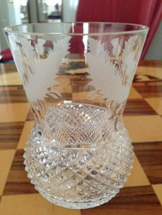 edinburgh crystal thistle Whisky Glass Tumblers - would LOVE these!!!