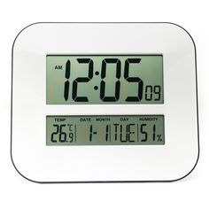 Big LCD Calendar Wall Clock with Thermometer/Table Alarm Clock/Gift Ideas Model: 2708Black