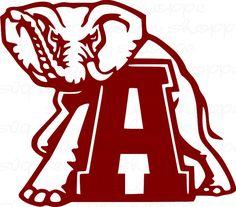 SVG Alabama Elephant Alabama Crimson Tide Roll by SVGDesignShoppe