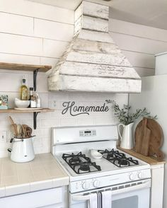 """Love the """"homemade"""" above the stove! 484 Likes, 5 Comments - Vintage Metal Co (@vintagemetalco) on Instagram: """"Surprise, surprise, Jessica did it again! Really, NO surprise at all, her DIY projects always turn…"""""""