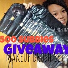 Win a makeup #brush set ^_^ http://www.pintalabios.info/en/youtube-giveaways/view/en/115 #International #MakeUp #bbloggers #Giweaway