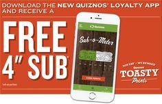 Free Coupon for Small Sub from Quiznos
