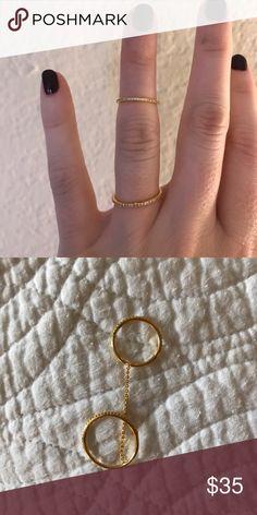 Gorjana ring set Shimmer ring to midi. Size 7 (ring) size 4 (Midi) Gorjana Jewelry Rings