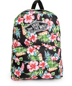 From your next vacation to a day at school, make sure your carrying needs are covered with the style of this tropical floral print backpack that features ample storage space for all your day-to-day things.