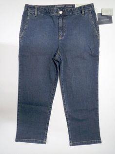 431c3cfa2a1 LIZ CLAIBORNE Ladies Slim Fit Stretch Denim Cropped Capri Jeans Size 10 Reg  NWT  LizClaiborne