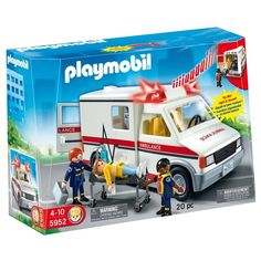 Children can use the Rescue Ambulance to help transport patients.