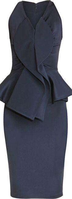Givenchy ● Blue Peplum Dress