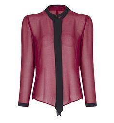 Colores de moda otoño 2012: burdeos. Blusa de Mango