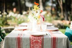 Summer dinner party table #color