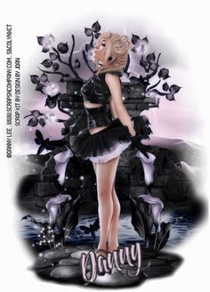"I am using the amazing Artwork of ""©Danny Lee"" I am also using a matching kit called ""Gothic Ballerina"" by Scrap Kit Designer ""Design By Joan"" You can purchase these at ""Scraps N Company""   Tutorial can be found at ...  http://lynxtuts.blogspot.com/2015/08/gothic-ballerina.html"