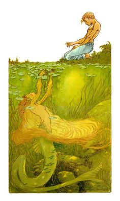 """by Charles Vess....""""How to Fall in Love with a Mermaid""""    ~ NEVER MIND THE GIRL THAT GUY IS HOT."""