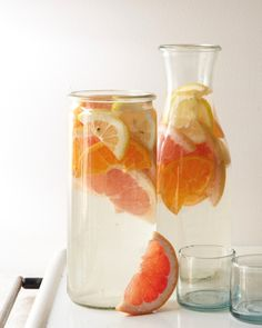 Mixed Citrus. We used oranges, lemons and grapefruit; and blood orange would be beautiful, too. Tip: We actually added sparkling water to this one, which was delicious.