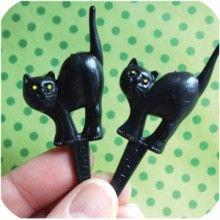 Black Cat Cupcake Picks