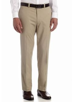 Calvin Klein Stone Classic Fit Flat Front Pants